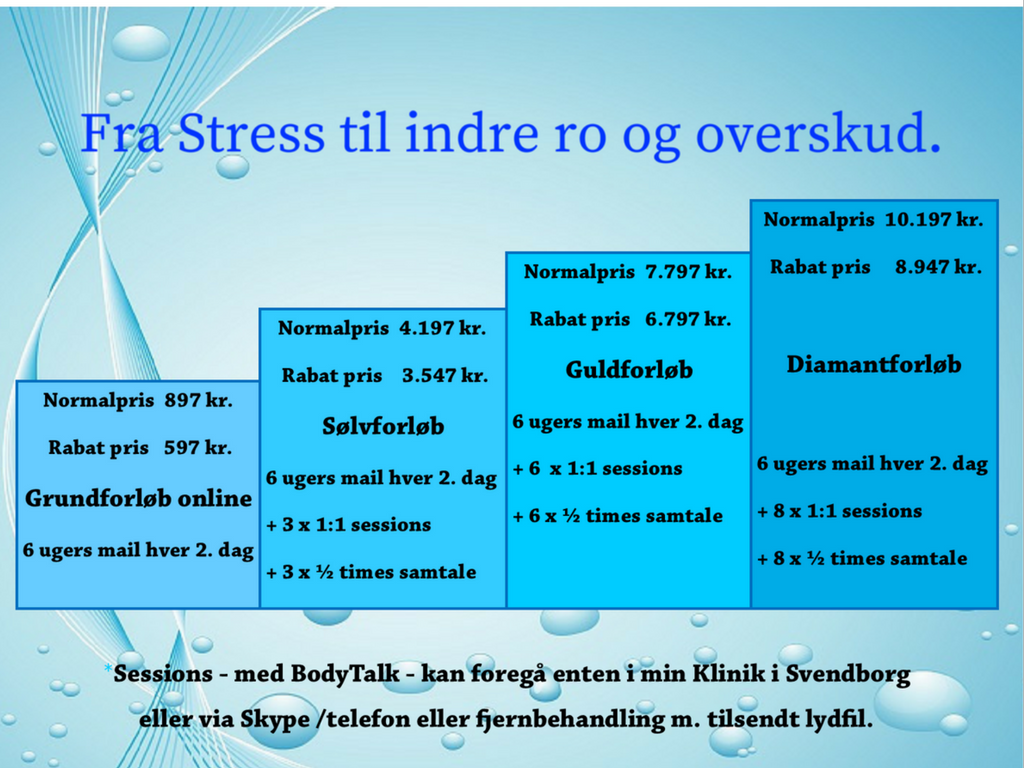 Stress, indre ro, overskud